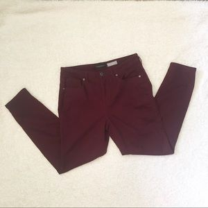 Aeropostale High Waisted 12 Jeggings Red Burgundy